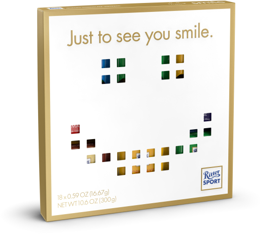 Ritter Sport mini Gift Box Smiley 300g