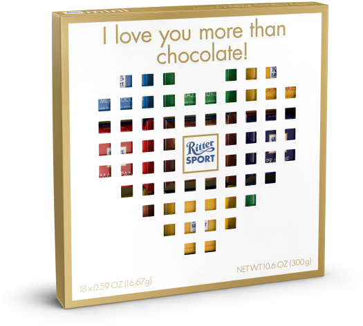 Ritter Sport mini Gift Box Heart 300g