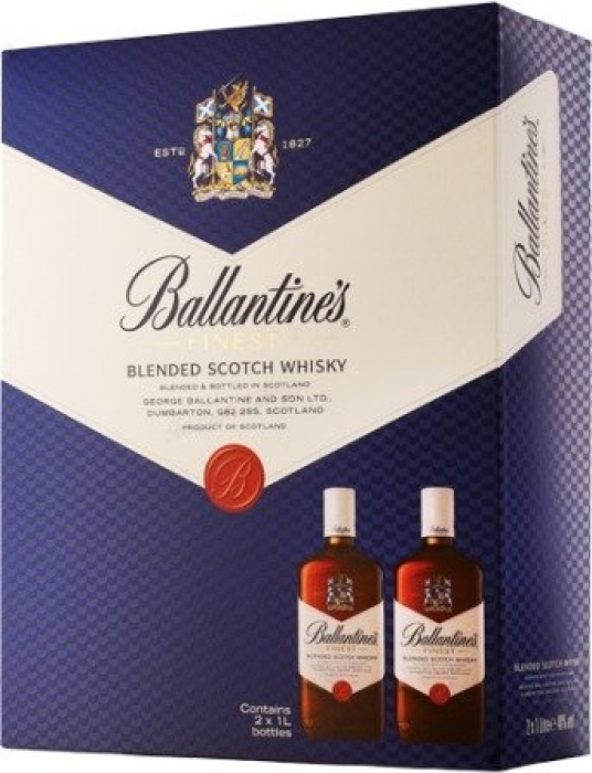 Ballantine's Finest 40% Whisky Twin Pack 2x1L