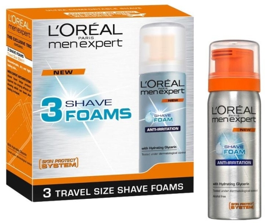 L'Oreal Men Expert Trio Mini Shave Foam 3x50ml