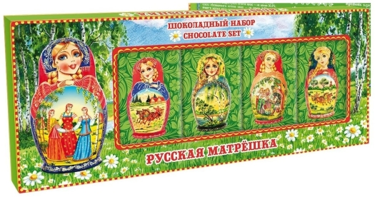 Imperial Chocolate Set Russian Matryoshka Green 60g