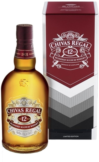 Chivas Regal 12 Limited Edition Gift Tin 1L