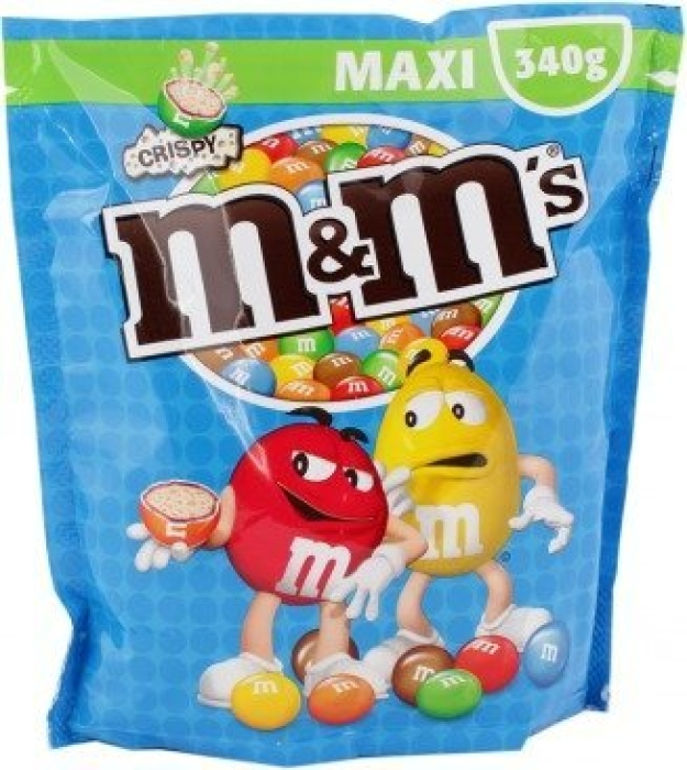 Crispy maxi pouch M&M's 340g