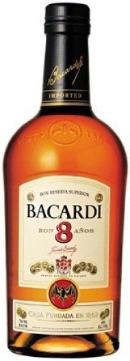 Bacardi 8 Anos 40% Giftpack 1L