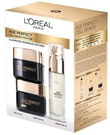 L'Oreal Paris Age Perfect Cell Renew Program Set 50ml+50ml+30ml