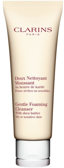 Clarins Cleansing 125ml Gentle Foaming Cleanser Dry or Sensitive Skin