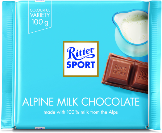 Chocolate Ritter Sport Alpine Milk