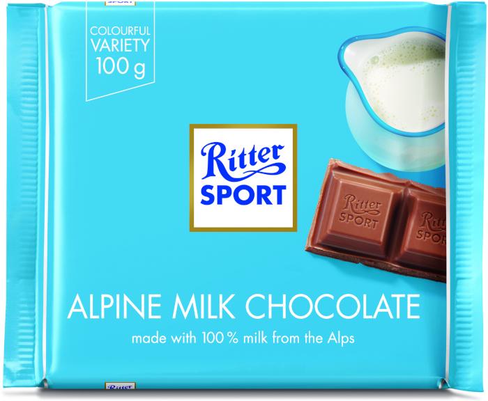Chocolate Ritter Sport Alpine Milk