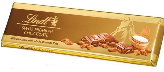 Lindt Tablet Gold Milk Almonds 300g